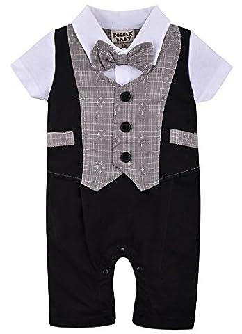 ZOEREA une pièce bébé garçon Costume de baptême costume enfant