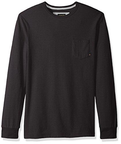 9b92f301fad26 Quiksilver Hombres Axin Knit T-Shirt Manga Larga Camisa de Botones - Negro -