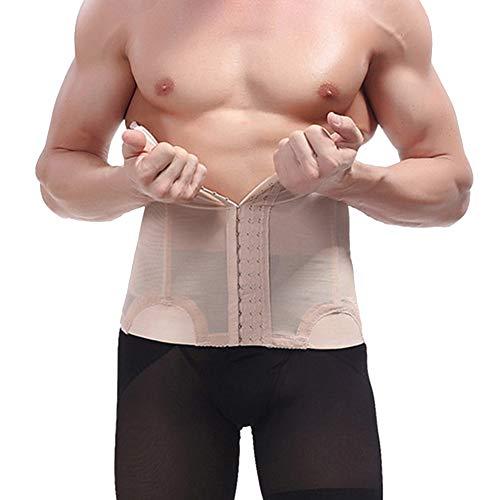 QitunC Herren Bauchweggürtel Abnehmen Slim Body Shaper Bauch Gürtel Taille Unterstützung Nackt M