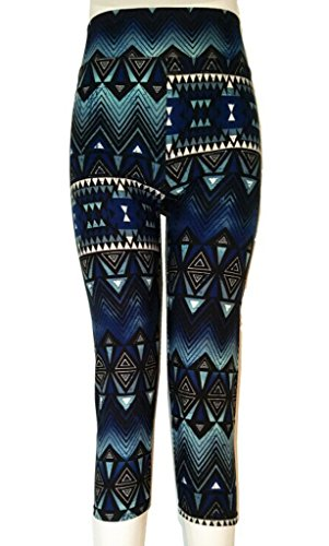 Bigood Femme Pantalon 3/4 Harlan Leggings Floral Collant Elastique Slimmer de Sport MulticoloreI