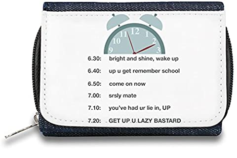 Alarm Pochette à glissière Bourse Zipper Wallet| The Stylish Pouch To Keep Everything Organized| Ideal For Everyday Use & Traveling| Authentic Accessories By Hamerson