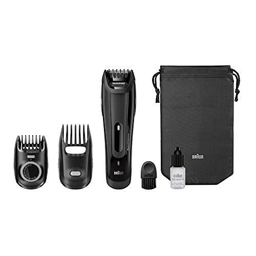 Braun BT 5070 - Recortadora barba, para hombre, con ajuste fino cada 0.5 mm: precisión para un estilo deseado, color negro