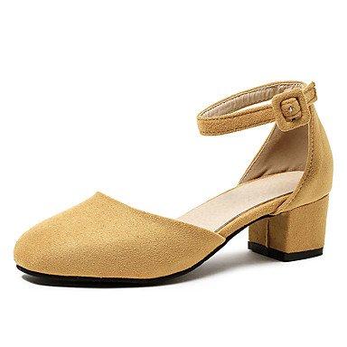 Sandales femmes Printemps Été Automne Chaussures Club Bureau en PU synthétique & Robe Carrière Partie & Soirée Talon talon bloc BuckleBlack Yellow