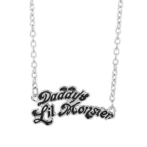 Suicide Squads Schmuck Harley Quinn Halsketten Daddy Es Lil Monster Pendant Halskind Logo Cosplay Geburtstagsgeschenk