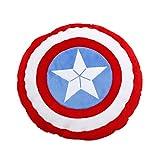 MIAOLIDP Capitán América Escudo Siesta Almohada Cojín Cojín Cojín Cojín Usable Soporte, cojín,
