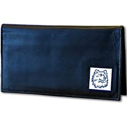 UCONN Huskies Deluxe Leather Checkbook Cover