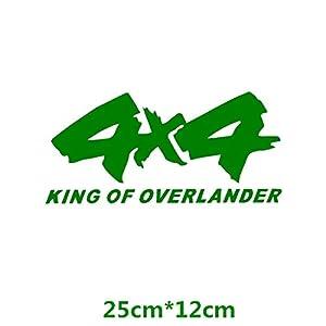 HANO 4x4 Off-Road King of Overlander SUV 4WD CarCreative Abziehbilder Auto Tuning Styling Wasserdicht 17 * 8cm & amp; 25 * 12cm D11: 25x12 Grün