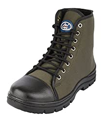 Allen Cooper Mens Green & Black Canvas Boots - 10 UK