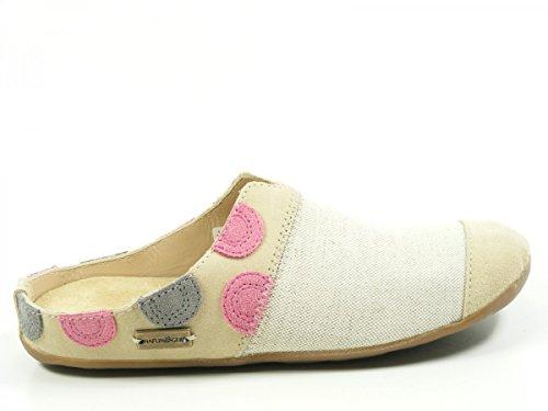 Haflinger 489020 Sunset Schuhe Damen Hausschuhe Pantoffel Beige