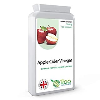 Apple Cider Vinegar 500mg 120 Capsules | UK Manufactured | Quality Guaranteed