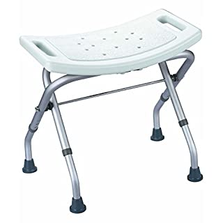 LOMOS® stable bathtub & shower seat in white, folding and adjustable in height
