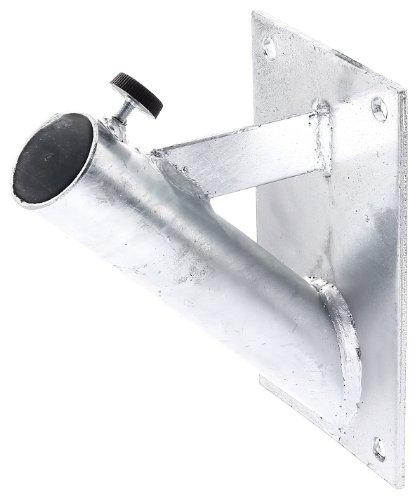 GAH-Alberts 639815 Halter für Fahnenmasten - zur Befestigung an der Wand, feuerverzinkt, für Rohr-Ø: 42 mm