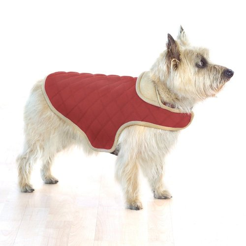 Company of Animals Dog Gone Smart gesteppt Jacke, 51 cm, rot
