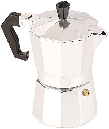 Cucina di Modena Espressokocher: Espresso-Kocher für 3 Tassen, für Gas, Elektro-Herd und Ceran-Feld (Espressokocher für den Herd) Espresso-kaffeemaschine Italien