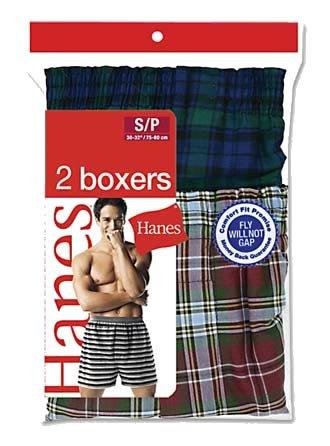Hanes ComfortSoft TAGLESS Men's Tartan Boxers 2-Pack XL Assorted (Boxer Hanes Tartan)