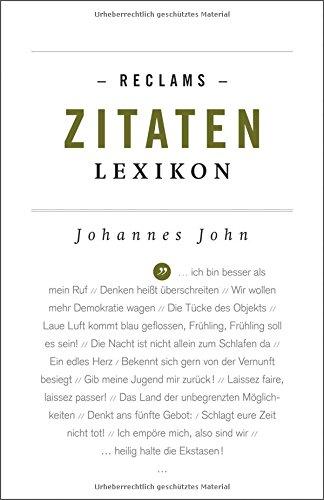Reclams Zitaten-Lexikon (Reclams Universal-Bibliothek)