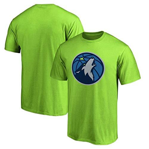 Basketball-baumwoll-jersey (MONYYTSHIRT Herren NBA Kurzarm Sommer Timberwolves Jersey Trainingskleidung Baumwoll T-Shirt Herren Basketball Casual Sport Kurzarm S-XXXL (Color : Green, Size : M))