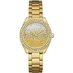 Guess Reloj Analógico para Mujer de Cuarzo con Correa en Acero Inoxidable W0987L2