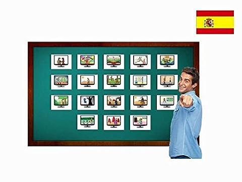 Bildkarten zur Sprachförderung in Spanisch - Unterhaltung - Tarjetas de vocabulario - Tipos de entretenimiento