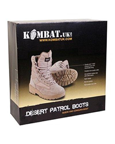 KOMBAT Desert Boots ARMÉE PATROUILLE DE COMBAT TACTIQUE DES CADETS DE SECURITE MILITAIRE DE TRAVAIL Multicolore