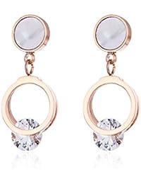 c575dcc5537a Earrings Home Creativo Nuevo Blanco Babe Nail Mujer Acero Titanio Simple  círculo Clip circones aretes Moda