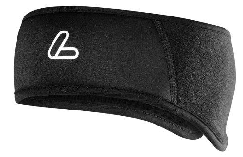 Löffler Stirnband Windstopper Warm Fleece, schwarz, 1, 09656