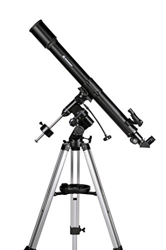 Bresser Teleskop Lyra 70/900 EQ mit 3-Bein-Stativ aus Aluminium, EQ-Sky Montierung für Erd- / Himmelsbeobachtungen, Smartphone Kamera Adapter und umfangreichem Zubehör