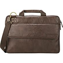Eddie Bauer Laptop Briefcase - Soft Brown - Motion Systems by Motion Systems