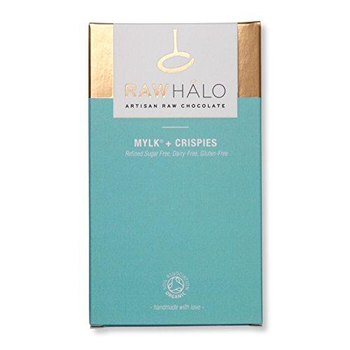 Raw Halo Mylk + Crispies Raw Chocolate Bar, 35g