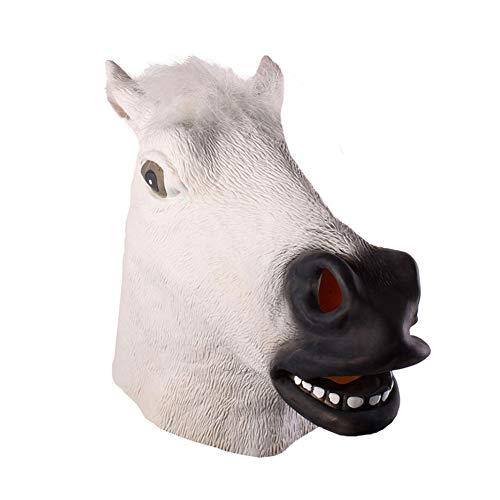 Deluxe Kinder Maske Pferd - Housesweet Pferdekopfmaske Latex Halloween Tiermasken Kostüm