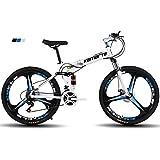 FJW Bicicleta de montaña para Hombres, Ruedas de 26'de 3 Pulgadas Marco de...
