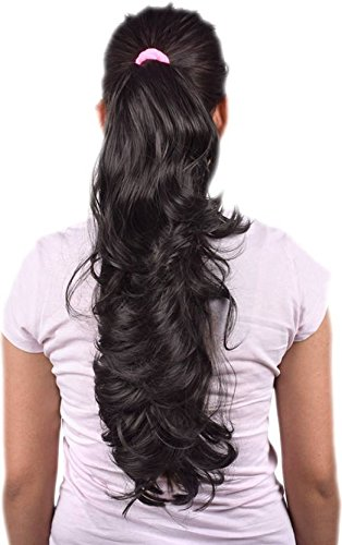 BigWave Clutch Hair Extension Black color Artificial Hair Extension