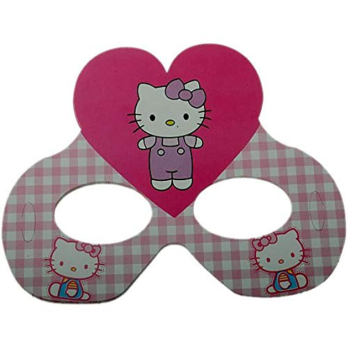 DekoShop-Hello Kitty Party Maske,6 Stk