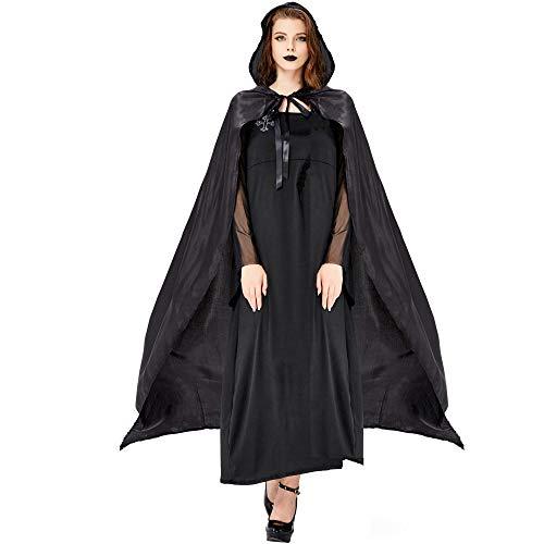 Halloween Hexenkostüm Mit Umhang Cosplay Königin Goblin Vampir Magier Spiel Drama Dress Up - Kostüm Ball Dress Up Spiele