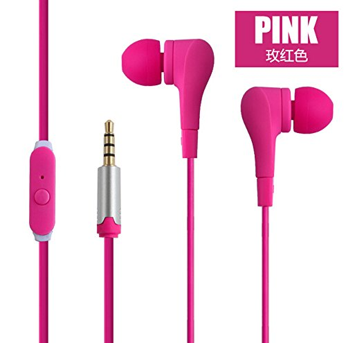 excellent-new-style-fashion-pink-earphone-earbuds-with-fiber-cable-with-mic-for-iphone-ipad-android-