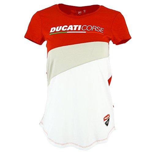 Pritelli T-Shirt Donna Ducati Corse, Rosso, Taglia L
