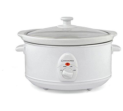 Cookworks 3.5L Slow Cooker - White
