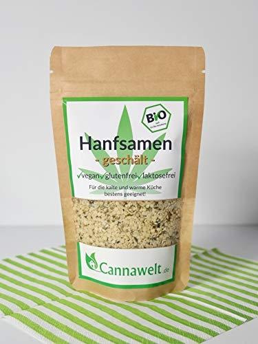 Cannawelt Bio Hanfsamen – geschält – Für die kalte und warme Küche bestens geeignet – DE-ÖKO-039