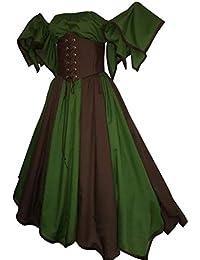 0c55808af9 Mujer Medievales Lolita Vestido con Dobladillo Irregular Vestidos De Fiesta  sin Tirantes Gótico Rockabilly Pretina Vestidos