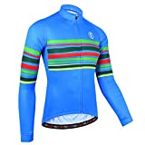 BXIO Bike Wear Autunno, Maglia da Ciclismo per Uomo, Jersey Traspirante Abbigliamento Sportivo da Ciclismo (Blue(151), M)