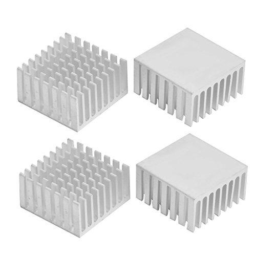 Deal Mux en aluminium dissipateur thermique refroidissement refroidisseur Multi-V 28mm x 28mm x 15mm 4pièces ton argent
