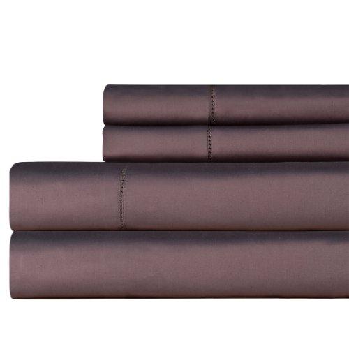 Celeste Home 610Fadenzahl Pima-Baumwolle Kissenbezüge, Standard, grau -