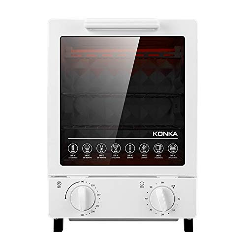 12L Mini horno , Multifuncional horno eléctrico de acero inoxidable, control de...