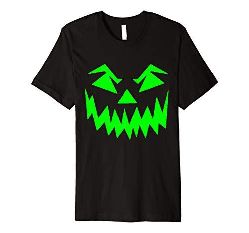 Jack O 'Lantern T-Shirt Scary Face grün Halloween