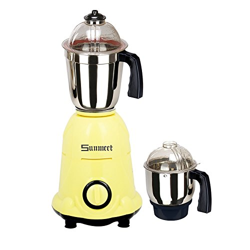 Sunmeet Arwa 750W Mixer Grinder (Yellow, 2 Jar)