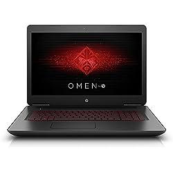"""HP OMEN 17-w203nl Display da 17.3"""", Notebook, Processore Intel Core i7-7700HQ, 2.8 GHz, 16 GB di RAM, Scheda Grafica nVidia GeForce GTX 1070A, 8 GB, Nero Brillante"""