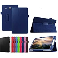 Sikye Slim Leather Case Cover For Samsung Galaxy Tab E 8.0 Inch Tablet SM-T337V (Drak Blue)