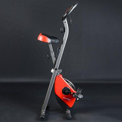 skandika Foldaway X-1000 Fitnessbike Heimtrainer klappbar mit Handpuls-Sensoren, 8-stufiger Magnetwiderstand, LCD Display ohne Rückenlehne - 6