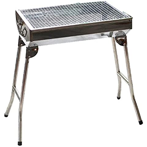 Griglie in acciaio inox spessore all'aperto famiglia BBQ Grill portatile Camping griglie barbecue Grill - Portable Grill All'aperto