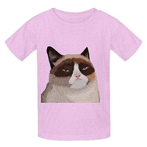 Gruñón Cat OOG Kid 's cuello redondo manga corta camisas